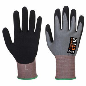 Portwest CT65 CT VHR Nitrile Foam Coating Grip Protection Work Gloves Pack Of 6