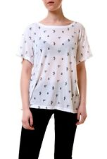 Wildfox Women's Cactus Print Short Sleeve NWT Top Tee White Size XS RRP£59 BCF73