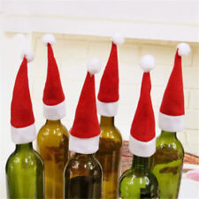 Fashion Christmas Santa Hat Cup Bottle Cover Crafts Xmas Gift Home Decor