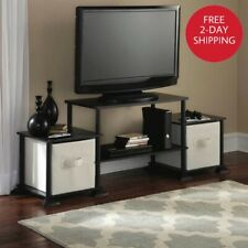 TV Stand Entertainment Center Media Console Furniture Wood Storage Cabinet Black