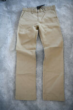 New DC Shoes Roomy Premium Mens Cotton Chinos Trousers Pants Khakis Brown W28