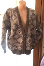 VINTAGE 80'S ~ SPORTSCRAFT ~ Wool Fairisle CARDIGAN * Size L/XL *