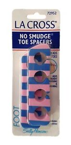 SALLY HANSEN LA CROSS NO SMUDGE TOE SPACERS EASY TO APPLY (PACK OF 2) BRAND NEW