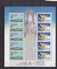 ASCENSION ISLAND MNH STAMP SHEET 1989 NASA CLOSURE OF DEVILS ASHPIT SG 504-505