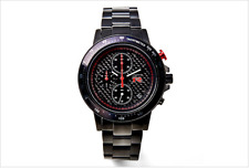 NISSAN NISMO GT-R Logo chronograph Real Carbon Wrist Watch From Japan