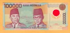 Indonesia Polymer UNC 100,000 Rupiah Banknote 1999  P-140