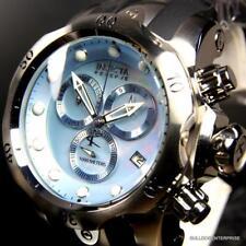 Invicta Reserve Venom Swiss Movt Blue MOP Chronograph Black Rubber Watch New