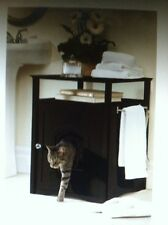 Merrry Cat Washroom And Nightstand, Hooded Litter Box