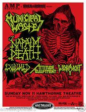 MUNICIPAL WASTE / NAPAIM DEATH 2012 PORTLAND CONCERT TOUR POSTER - Metal Music