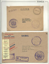 "Tonga: 2 Covers Official ""O.H.M.S."" Circulated to Canada and other to Usa. TG129"