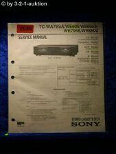 Sony Service Manual TC WA7ESA / WE505 / WE605S / WE705S / WR550Z (#2039)