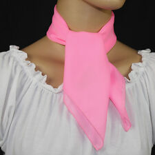 50s Style HOT PINK Sheer Chiffon Square Scarf for Poodle Skirt/ Sock Hop