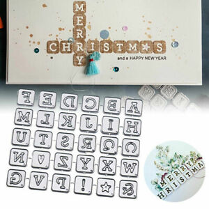 30 Pieces Letters Alphabet Metal Cutting Die Cutter Christmas Love Card Making