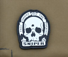 """PVC / Rubber Patch """"SNIPER - Face Shoot the F**kers"""" with VELCRO® brand hook"""