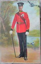 SERGEANT MAJOR Dress Uniform YORKSHIRE Regt Patriotic Colour PC Loughton 1907