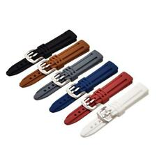 18-24mm Waterproof Silicone Rubber Watch Strap Replacement Bracelet Wrist Band
