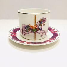 Whimsical Colorful Carousel Horse Coffee Tea Cup and Saucer by Teleflora Gifts