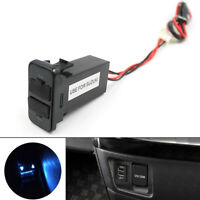Car Dual USB Port Dashboard Fast Charger Adapter 5V 2.1A for Suzuki /ND
