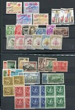 OC133) Colombia Dominica 1cuba MNH stamps on 2 pages some imperf.
