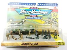 Micro Machines Military Infantry Attack Playset New On Card
