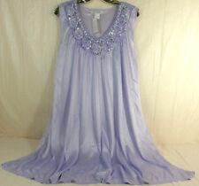 LATI FASHION XL Purple Womens Sleeveless Nightgown 100% Polyester