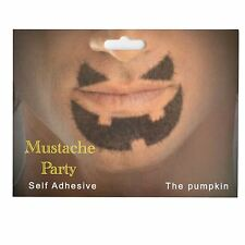 Pumpkin Shaped Fake Moustache/Mustache Self Adhesive Fancy Dress Accessories
