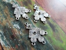 4 Chandelier Earring Findings Silver Connector Pendants Chandelier Findings
