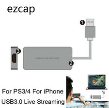 HDMI to USB 3.0 Video Capture Card 1080P 60fps Full HD Recorder Live Streaming