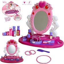 Princess Glamour Mirror Dressing Vanity Table Beauty Girl Play Set Light U0026  Music