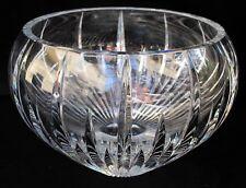 Contemporary HEAVY Onion Shape Deep Cut Crystal Centerpiece Bowl - Sparkly!