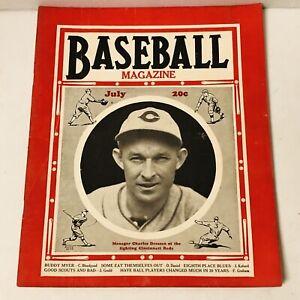 BASEBALL MAGAZINE July 1935 Charles Dressen Cincinnati Reds Cover Babe Ruth