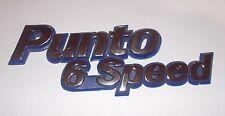FIAT PUNTO 6 SPEED - MK1/ SCRITTA POSTERIORE/ REAR NAMEPLATE