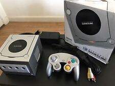 Silver Nintendo GameCube Console Boxed with Language/Region Switch and Chipped