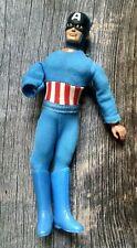 """Vintage Meco Captain America Action Figure 1970s 8"""""""