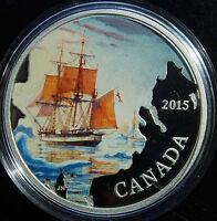 Canada 2015 1 oz. Fine Silver Coloured Coin Lost Ships: Franklin's Expedition