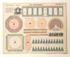 Imagerie D'Epinal No 518 Les Velocipedes/ Grandes Constructions toy paper model