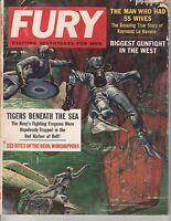 (ABC) JAN 1959 FURY mens adventure magazine TIGERS BENEATH THE SEA