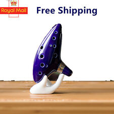 12 Hole Ocarina Ceramic Alto C Vessel Flute Wind Legend of Zelda Instrument AY