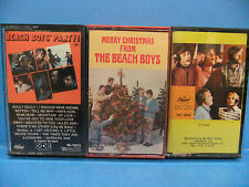 The Beach Boys VINTAGE Cassette Tape LOT Party! Merry Christmas From, Best Of 1