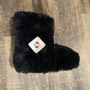 Women's Medium 7/8 Black Dearfoams Slippers