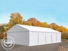 05x10m Tendone deposito Tendone per feste Capannone 500 g/m² PVC gazebo bianco