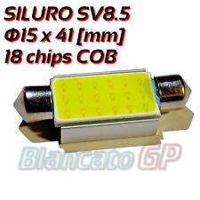 Lampada LED a siluro 18 chip COB SMD 15x41 luce targa lettura bagagliaio SV8.5
