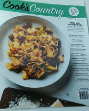 Cooks Country October/ November 2016 Pasta with Sausage Ragu  FREE SHIPPING