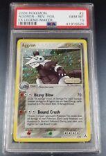 Pokemon PSA 10 Aggron Reverse Holo Card 2/92 EX Legend Maker POP 1!