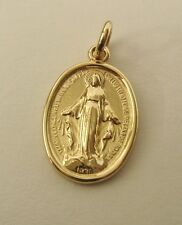 HEAVY GENUINE 9K 9ct SOLID GOLD MIRACULOUS SAINT MARY MEDAL MADONNA PENDANT