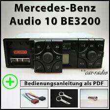 Original Mercedes Audio 10 BE3200 Becker Radio A2088200386 CC Kassettenradio Set
