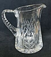 "American Brilliant Period Cut Glass Water 7""  Pitcher Vase Heavy 3lbs 10oz ABP"