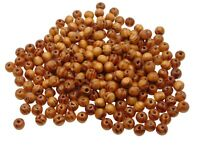 100 Pcs - 8mm Round Pattern Wooden Beads Jewellery Ethnic Craft Beading J154