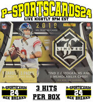 2019 PANINI LIMITED FOOTBALL CARDS NFL LIVE BOX BREAK #3447 | 1 TEAM | 3 HITS