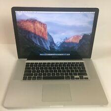 """Apple MacBook Pro 15"""" 2.8GHz C2D 240GB SSD 4GB MB986LL/A  A1286 OS X El Capitan"""